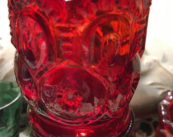 Fenton Tooth pick Holder Ruby Red