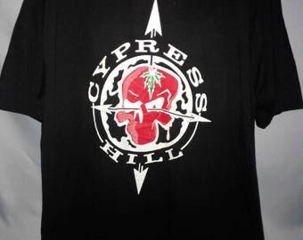Vintage Cypress hill 90s rare hip hop rap band tshirt