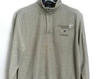 vintage..DUNLOP sweatshirt jumper embroided logo LL size