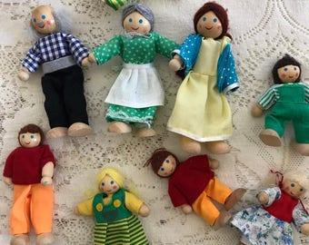 Vintage Doll House Dolls