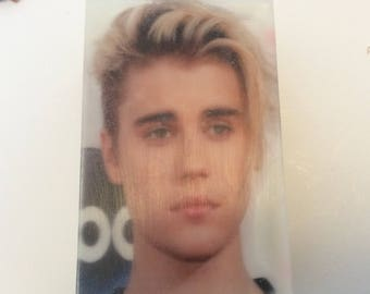 Hand made organic soap soap with Justin Bieber image, gift soap, bar soap