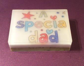 A special DAD image soap/picture soap/design organic soap