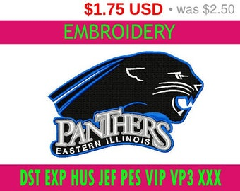 SALE 30% Eastern Illinois Panthers embroidery / embroidery designs logo / Sports logo embroidery design / American football