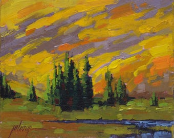 "Downslope Glow 8x10"" Plein Air Oil Painting"