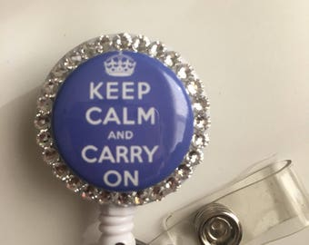 Keep Calm And Carry On ID Badge Holder