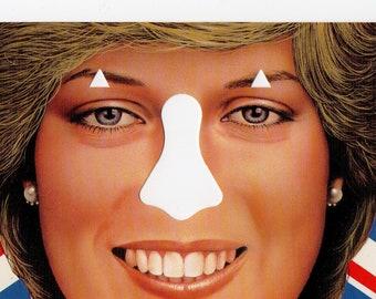 Insert Nose Here Princess Diana Postcard | Funny Vintage Post Card, Royal, Princess Di | Paper Ephemera