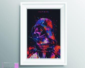 Patron Darth Vader en punto de cruz. Perfecto para adornar una habitacion