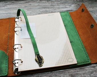 brownleather suede notepad