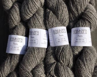 Natural Gray Alpaca/Angora Sport Weight Yarn