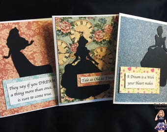 Princess Cards - Set of 3 - Blank - Any Occasion