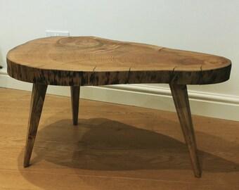 Large cedar tree slice coffee table