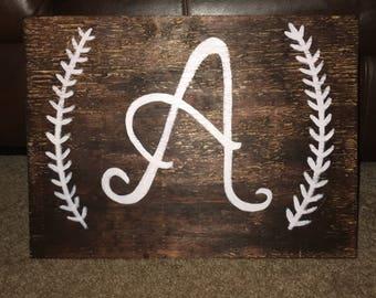 Letter wood sign
