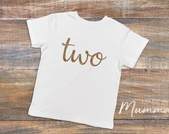 Second Birthday, Two , Custom Children's T-Shirt