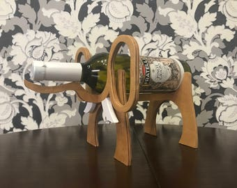 Wooden Wine Bottle Holder Elephant Wooden wine rack made of wood thickness 8mm  Wine Gifts Wine Accessories