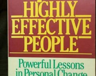 Stephen R Covey  Habits Of Highly Effective People  Trade Paperback Very Good Condition