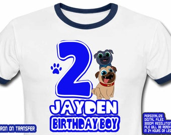 Puppy Dog Pals Iron On Transfer , Puppy Dog Pals Birthday Shirt DIY , Boy Birthday Shirt DIY , Puppy Dog , Personalize Name , Digital File