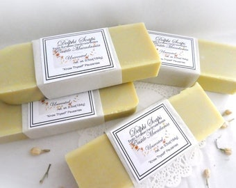 Castile Macadamia luxurious soap-unscented large soap- Olive oil scent free bar soap- shea butter soap-Natural oilive oil soap-gift soap