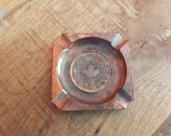 Vintage Mini Canada Copper Ashtray