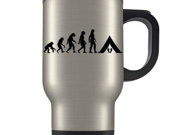Camping Travel Mug, camping gift, camping gift idea, camping gift for men, outdoors mug, camping gifts, camper gifts, camper travel mug