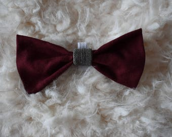 Maroon and Grey Pet Bow Tie for NAMI