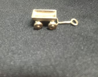 Vintage Sterling Silver articulated Wagon Charm