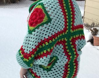 Vintage Rose Crocheted Cardigan