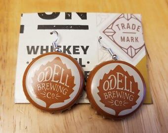 Odell Brewing Co Bottle Cap Earrings