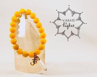 Golden Yellow Jade Energy Bracelet