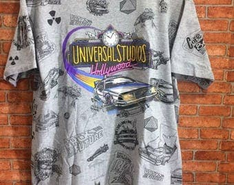 Back To The Future Vintage By Universal Studios Hollywood Over Print Multi colour