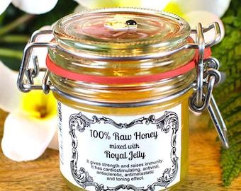 100% Raw Honey mixed with Royal Jelly (125 ml)