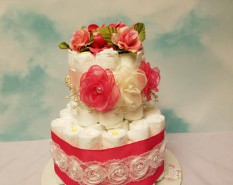 2 tier diaper cake