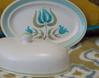 Franciscan Tulip Time Butter Dish