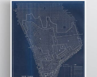 New York Growth Vintage Map