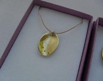 9ct Gold Ormer Shell Pendant without chain