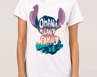 Lilo and Stitch 'Ohana Means Family' T-Shirt, All Sizes
