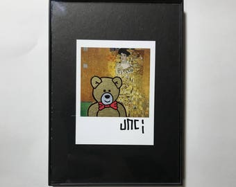Bear Painted Polaroid