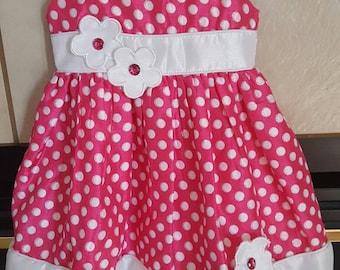 Beautiful Polke Dot Flower Toddler Dress
