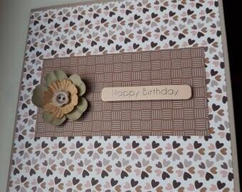 Birthday Card, Happy Birthday, Flower Card, Geburtstagskarte, Grußkarte, Girlfriend, Wife, Husband, Cute Card