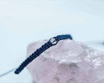 Handmade Blue Friendship Bracelet