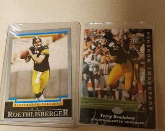 Two Pittsburgh Steelers cards