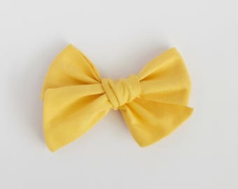 Sunflower // Yellow Handmade Alice Bow