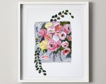 Flower Painting Acrylic
