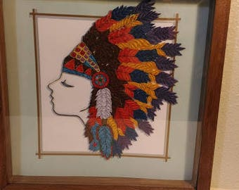 Quilled Indian Headdress