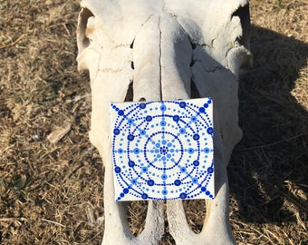 Snowflake Mandala Magnet
