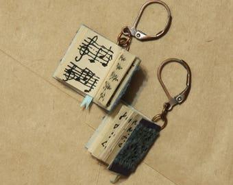 Books earrings