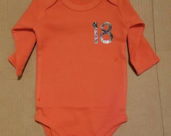 Personalized baseball onesie