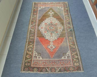 Turkish Oushak Rug, Vintage Oushak Rug, Vintage Turkish Rug, Turkish Rug, Tribal Rug, Anatolian Rug, Handwoven Rug