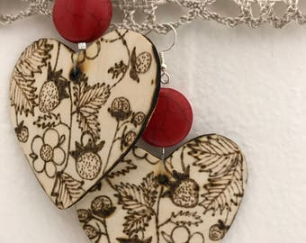 Strawberry patch hearts