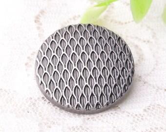 metal buttons 10pcs 25*9mm round metal zinc alloy buttons shank buttons light black buttons clothing buttons