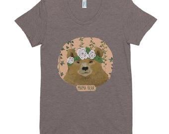 Mama Bear Crew Neck T-shirt